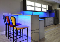Basement Bar and Kitchens