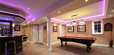 finished basement about us